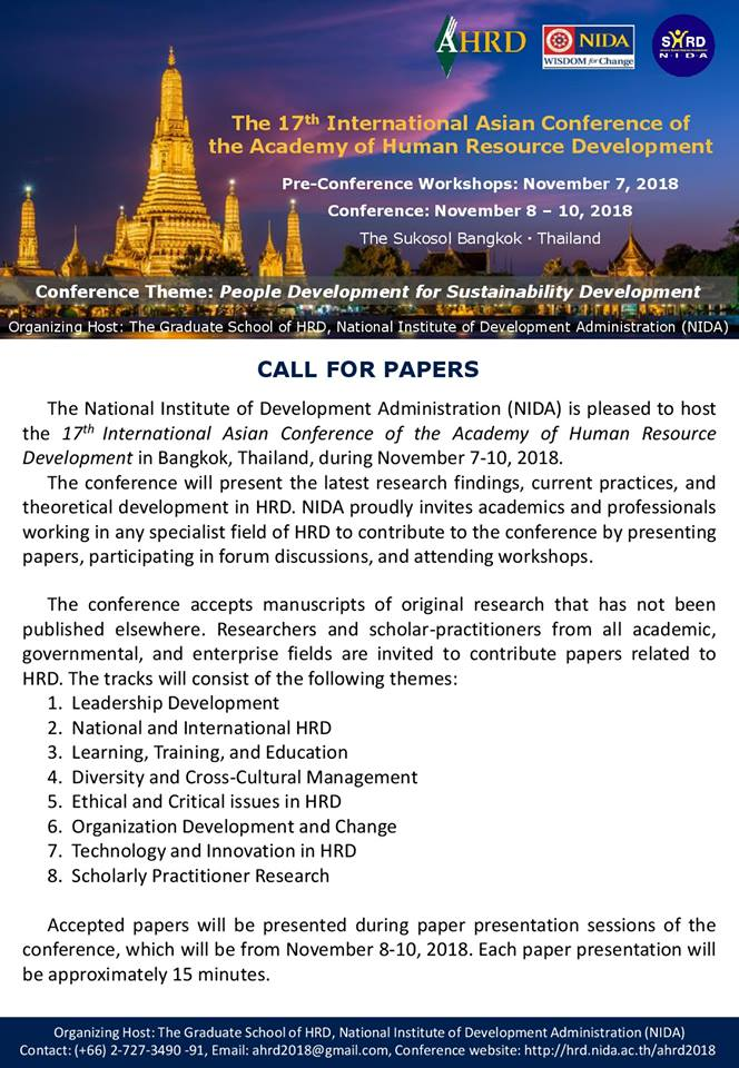 The 17th International Asian Conference of the Academy of Human Resource Development